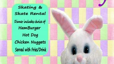 dinner with easter bunny