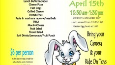 Toddler lunch with the Easter Bunny