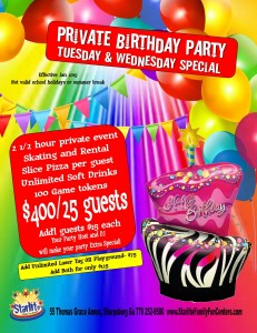 private bday tues-wed