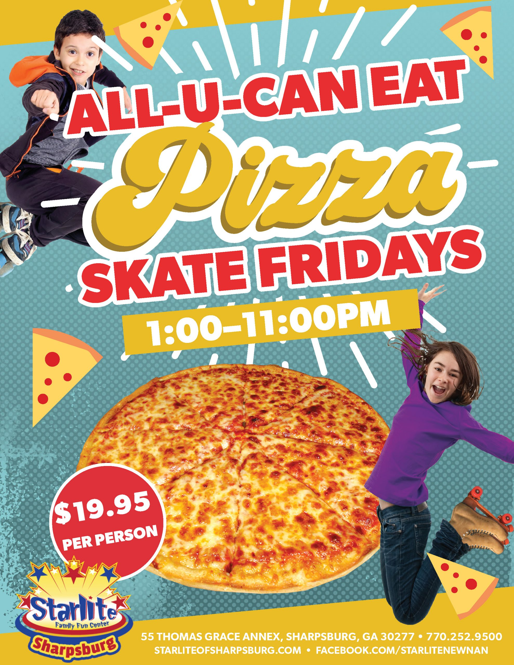 GA21-009 All You Can Eat Pizza Flyer-Sharpsburg new